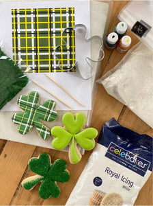 Lucky Shamrock Cookie Decorating LIVE Class  by The Painted Pastry (Saturday, March 13th)