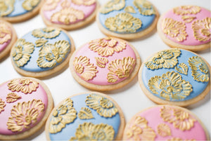 Brush Embroidery Cookies Supplies & Tutorial by SweetAmbs