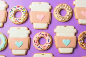 Coffee and Donuts Kit (Bake and Decorate 24 cookies)
