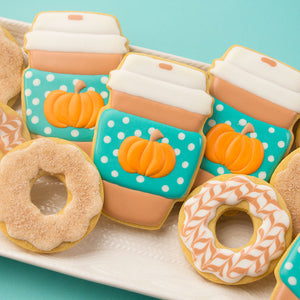 Pumpkin Spice Coffee and Donuts Cookie Bundle by Sweetambs