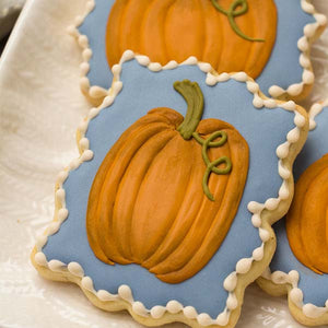 Pumpkin Plaque Cookie Supplies and Tutorial by SweetAmbs