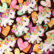 Rainbow Unicorn Cookies and Conversation Hearts Supplies & Tutorial by Lila Loa