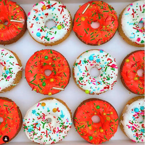 Christmas Cake Donuts Supplies and Tutorial by Karlee's Kupcakes
