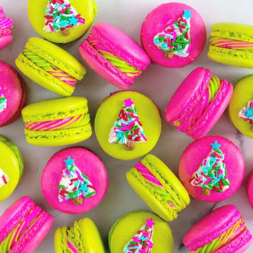 Neon Christmas Tree Macarons Kit by StaySweet