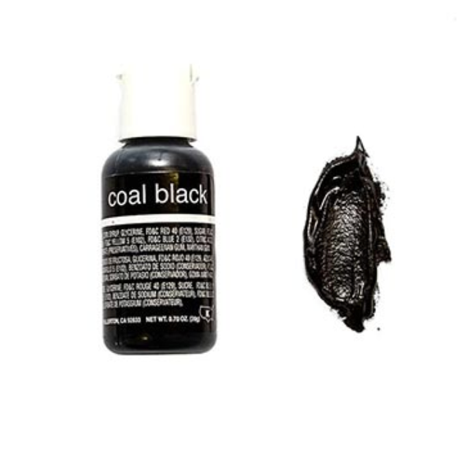 Coal Black Liqua-Gel Food Coloring 20ml
