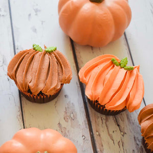 Pumpkin Cupcakes Supplies & Tutorial by Chahrazad's Cuisine