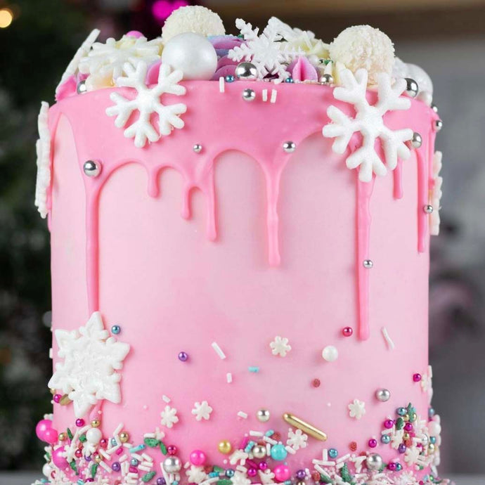 Pretty In Pink Holiday Cake Supplies and Tutorial by Sheri Wilson