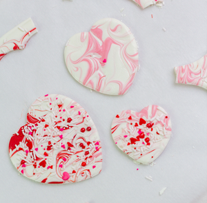 Pretty Valentine's Heart Bark Lollipops Supplies and Tutorial by Find Your Cake Inspiration