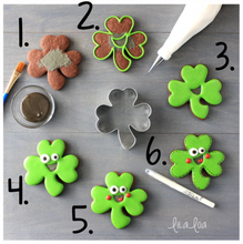 Happy Shamrock Cookies Supplies & Tutorial by LilaLoa (Ships starting March 1st)