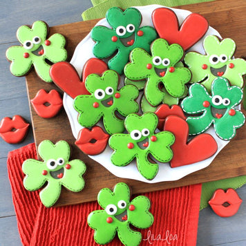 Happy Shamrock Cookies Supplies & Tutorial by LilaLoa
