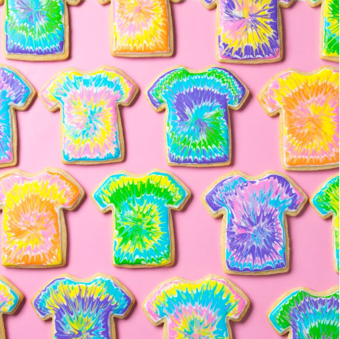 Tie Dye T-Shirt Cookie Kit by SweetAmbs (24 cookies)