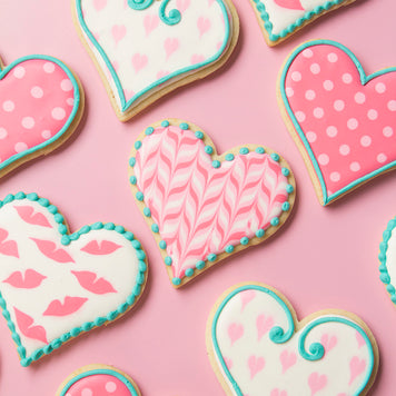 Beginner Royal Icing Cookie Decorating LIVE Class with Sweetambs - Valentine's Day Cookies (Sunday, January 31st)
