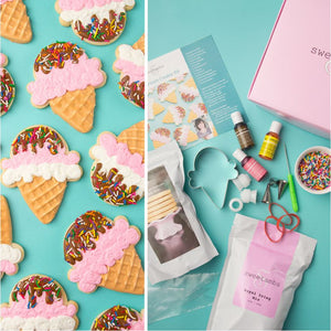 Class with Kit Included: Beginner Ice Cream Cookie Decorating LIVE Class with Sweetambs (Coming Back Soon!)