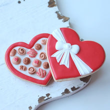 Heart Chocolate Box Cookies Supplies & Tutorial by Montreal Confections