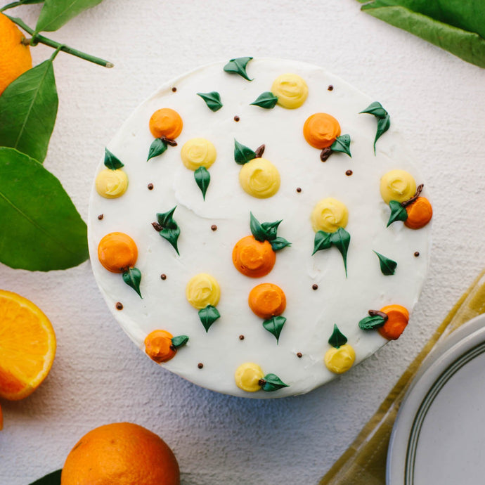 Citrus Cake Supplies & Tutorial by Global Belly