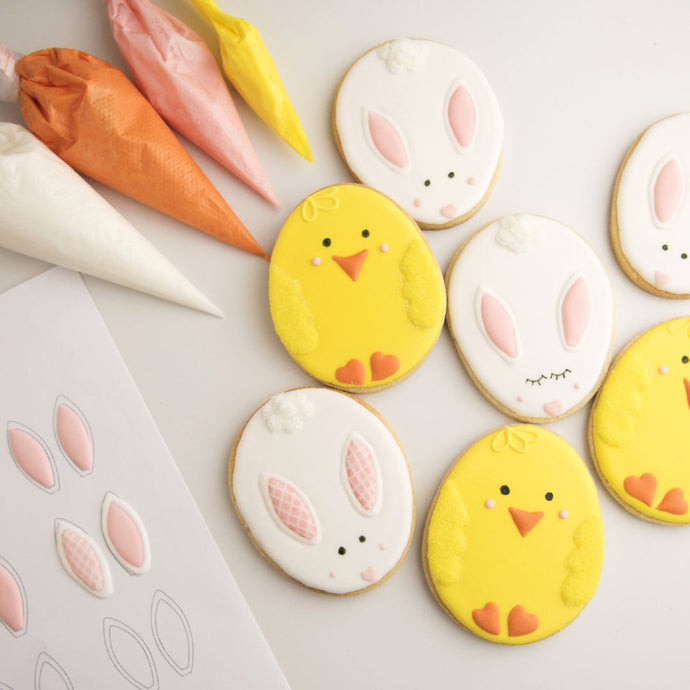 Easter Chick and Bunny Cookies Supplies & Tutorial by Haniela's