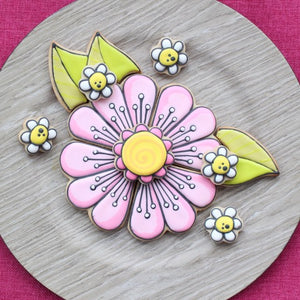 Flower Cookie Platter Supplies & Tutorial by Montreal Confections