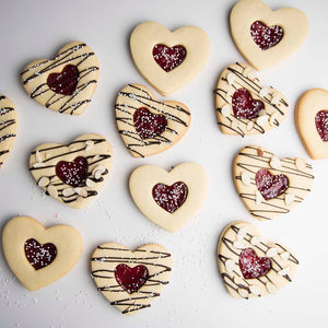 Jam-Filled Heart Cookies Supplies & Tutorial by Haniela's