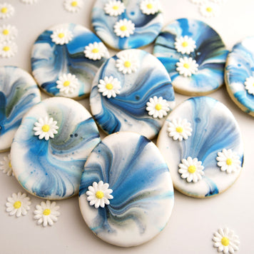 Blue Marbled Easter Egg Cookies Supplies & Tutorial by Haniela's