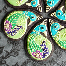 Paisley Peacock Cookies Supplies & Tutorial by Montreal Confections