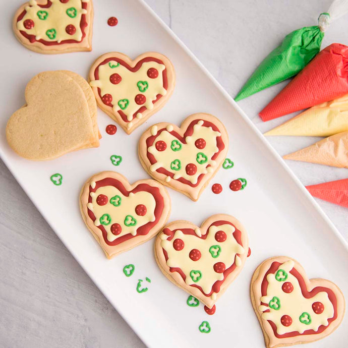 Heart Pizza Cookies Supplies and Tutorial by Haniela's