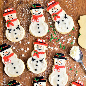 Kid-friendly Snowman Kit by Haniela's (24 cookies)