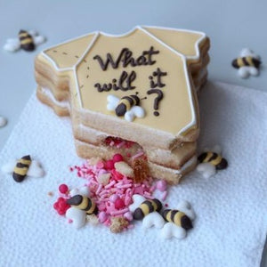 What Will it Bee? Gender Reveal Cookies Supplies & Tutorial by Montreal Confections