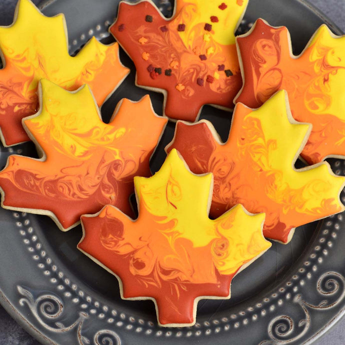Colorful Fall Leaves Cookie Baking Supplies by Haniela's (makes 24 cookies)
