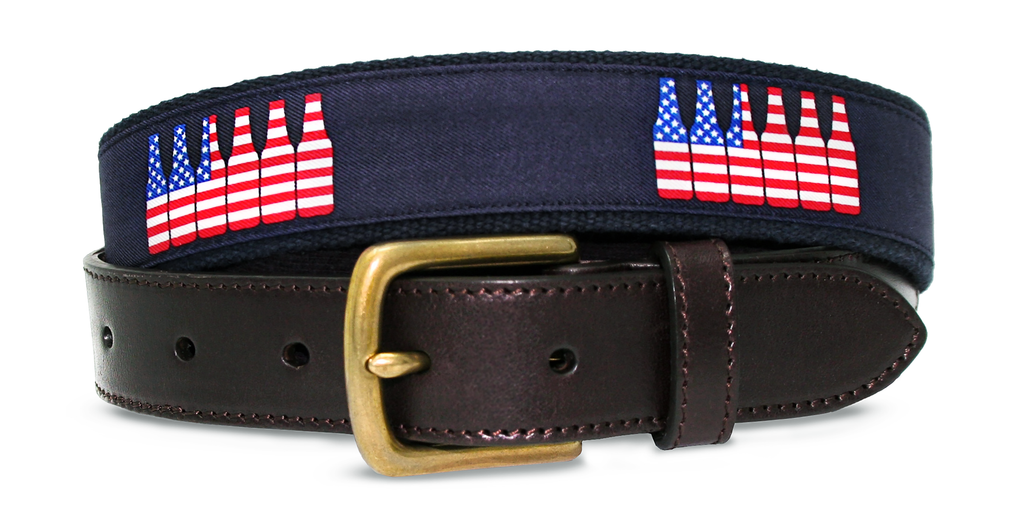 Club Belt-American Flag-Preppy-6 Pack-Navy-Cold Glory
