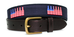 American Flag 6 Pack Belt - Navy