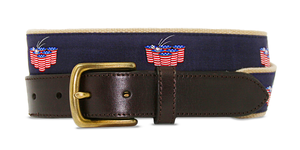American Flag Beer Pong Belt - Khaki