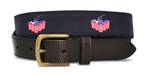 American Flag Beer Pong Belt - Navy