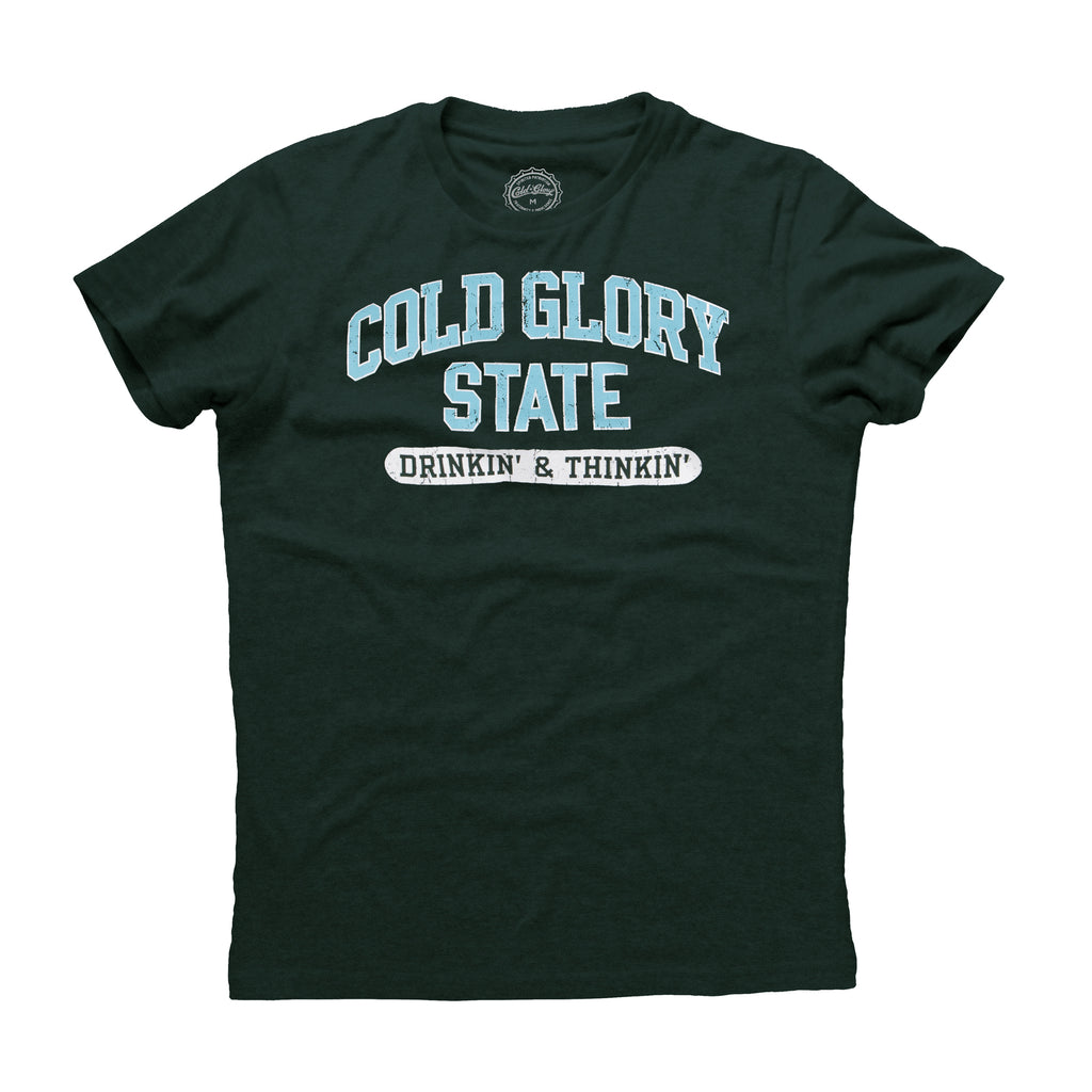 Cold Glory State Varsity T-Shirt - Green/Lt. Blue