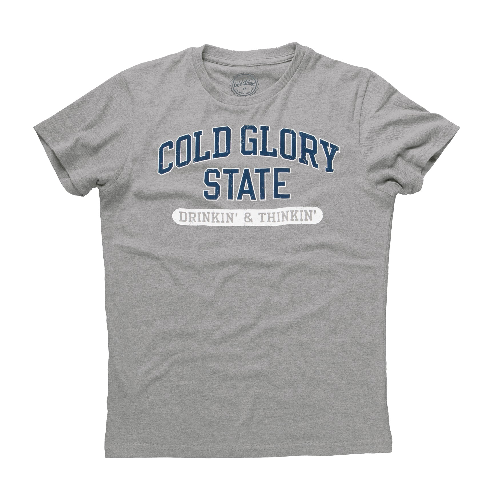 Cold Glory State Varsity T-Shirt - Grey Heather/Blue