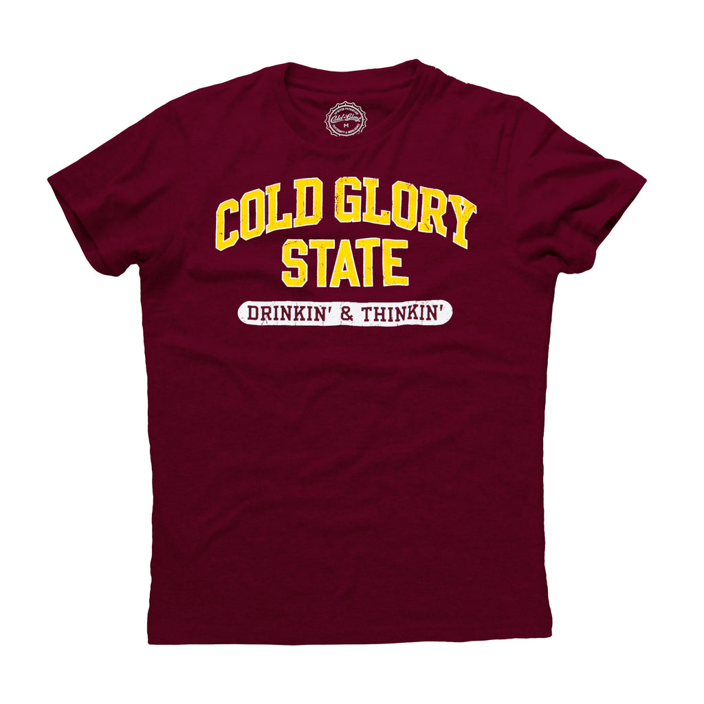 Cold Glory State Varsity T-Shirt - Maroon/Gold