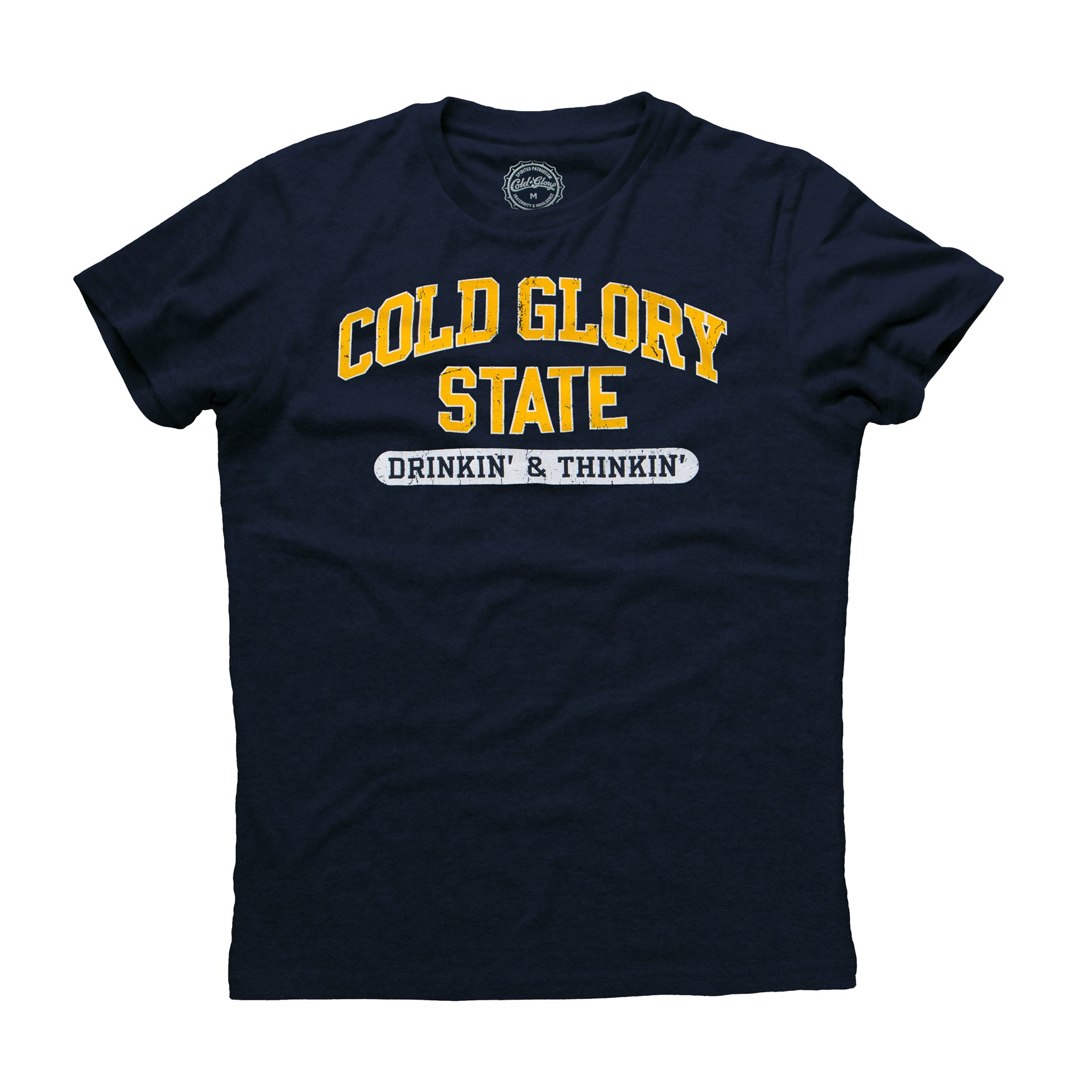 Cold Glory State Varsity T-Shirt -Navy/Maize
