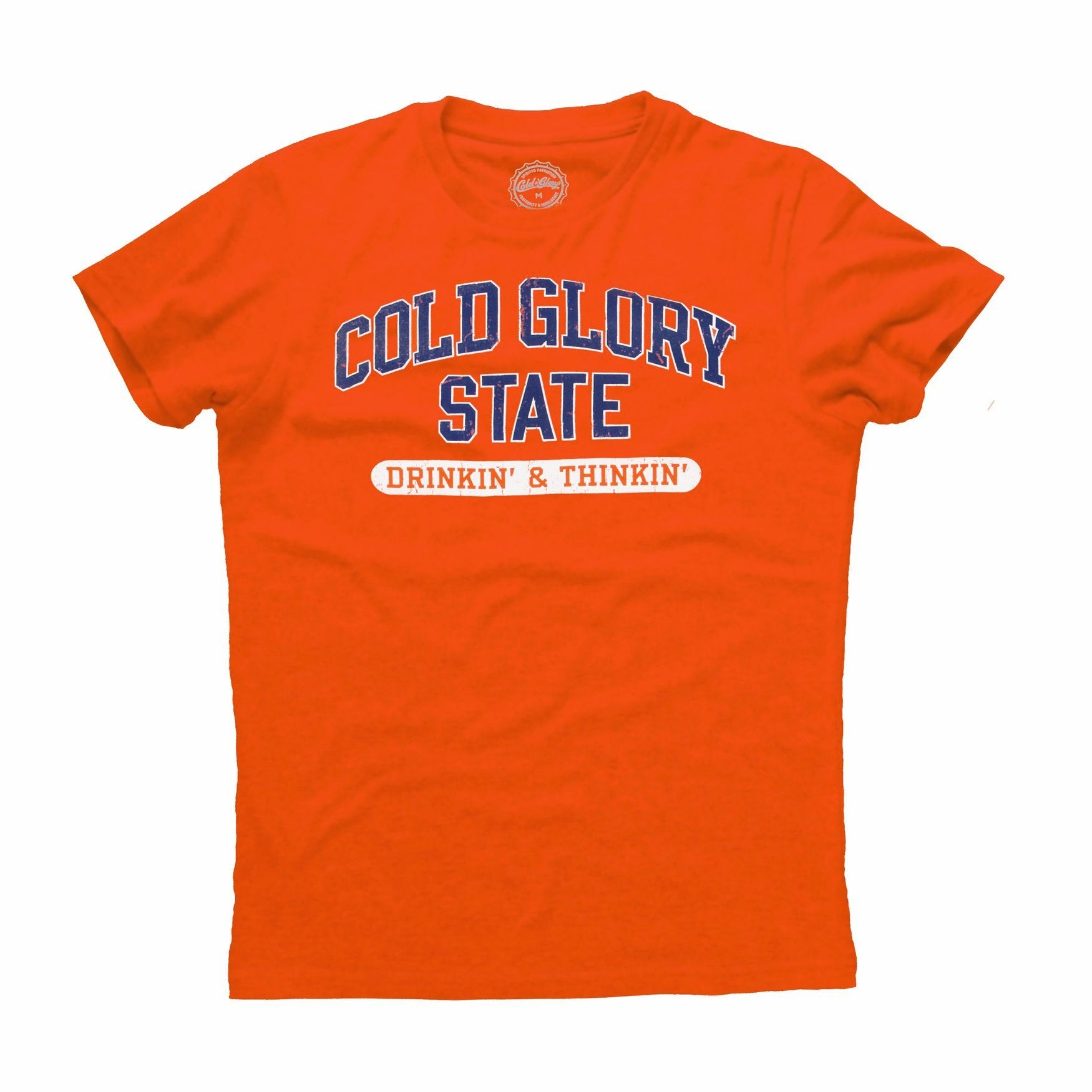 Cold Glory State Varsity T-Shirt - Orange/Blue