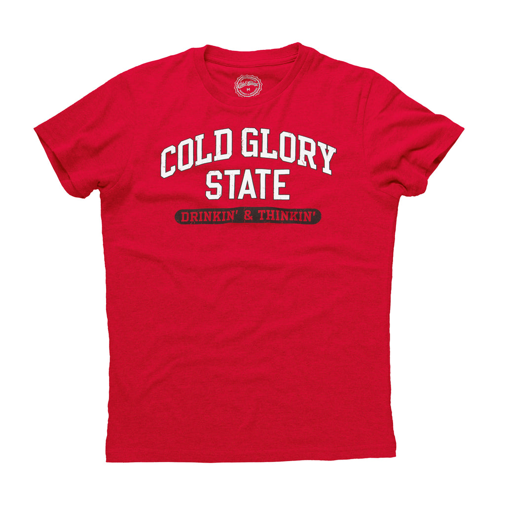 Cold Glory State Varsity T-Shirt - Red/White/Black