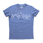Cold Glory Beer EKG T-Shirt  Light Blue Heather