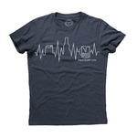 Cold Glory Beer EKG T-Shirt  Midnight Navy Heather
