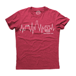 Cold Glory Beer EKG T-Shirt  Cardinal Red Heather