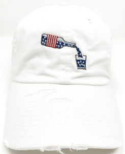 White Whiskey American Flag Hat