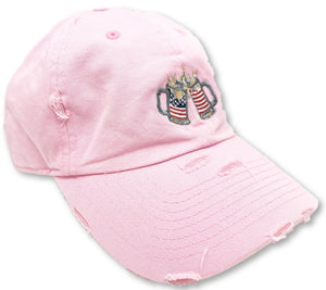 Pink Cheers American Flag Hat