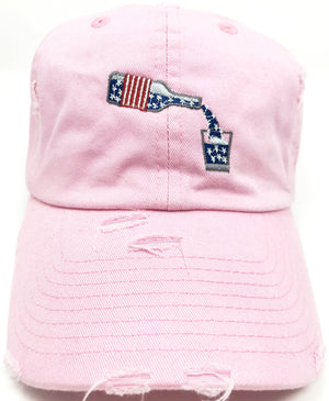 Pink Whiskey American Flag Hat