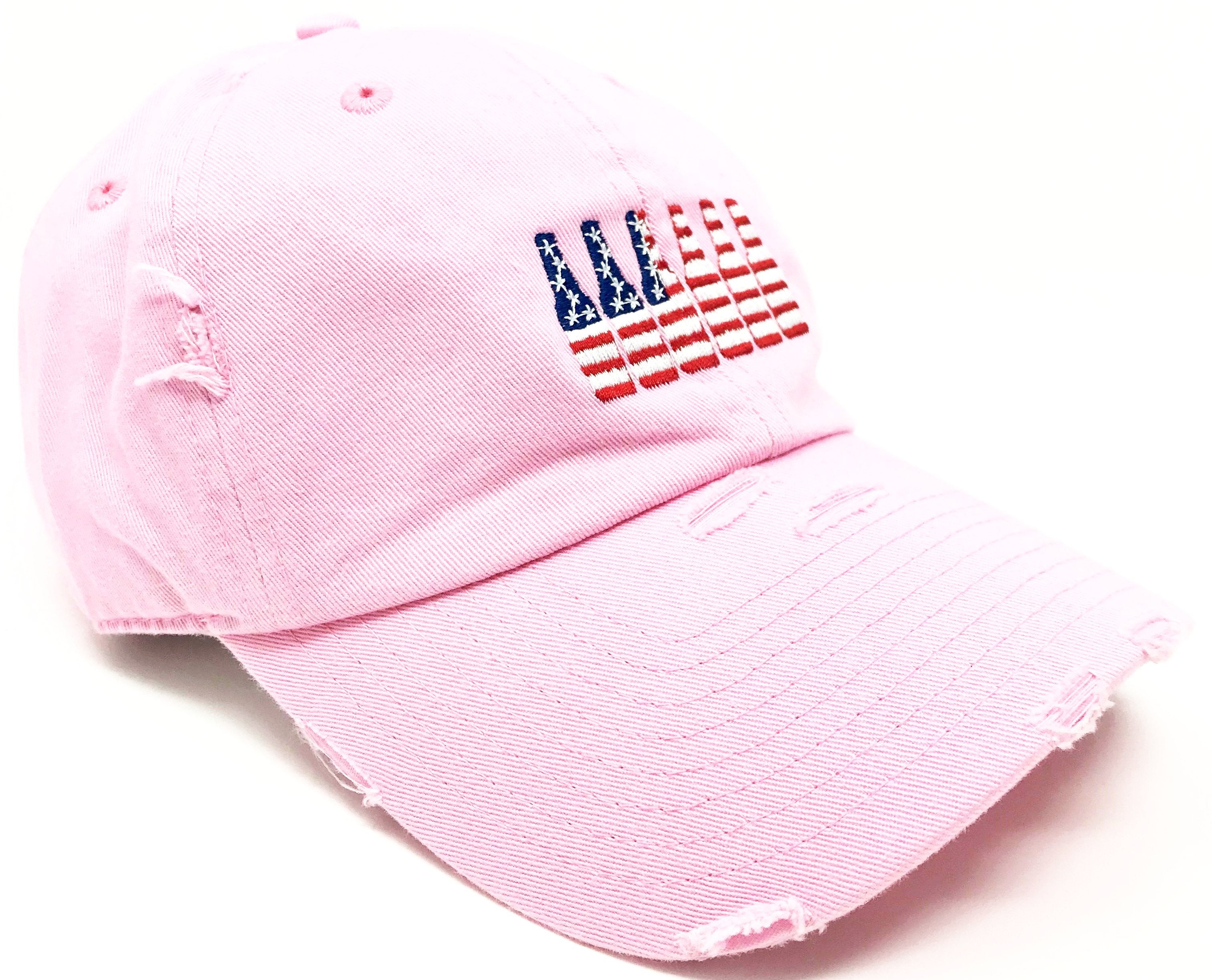 Pink 6 Pack American Flag Hat