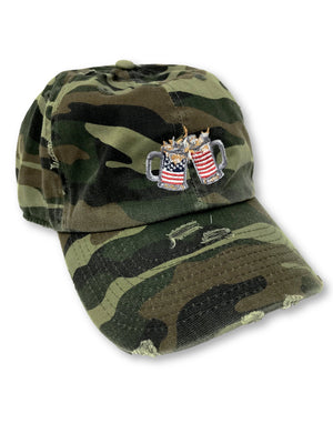 Camo Cheers American Flag Hat