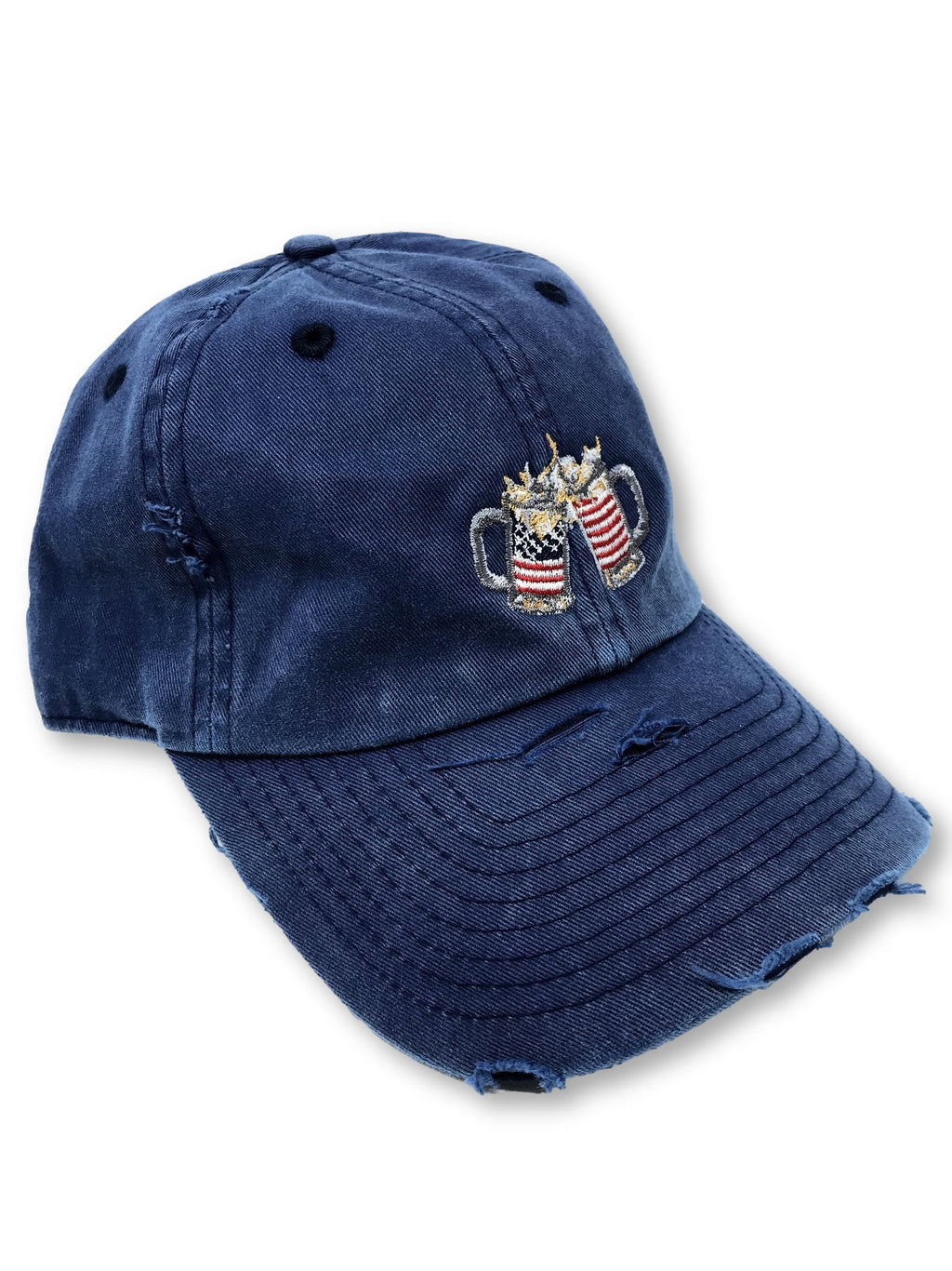 Vintage Navy Cheers American Flag Hat
