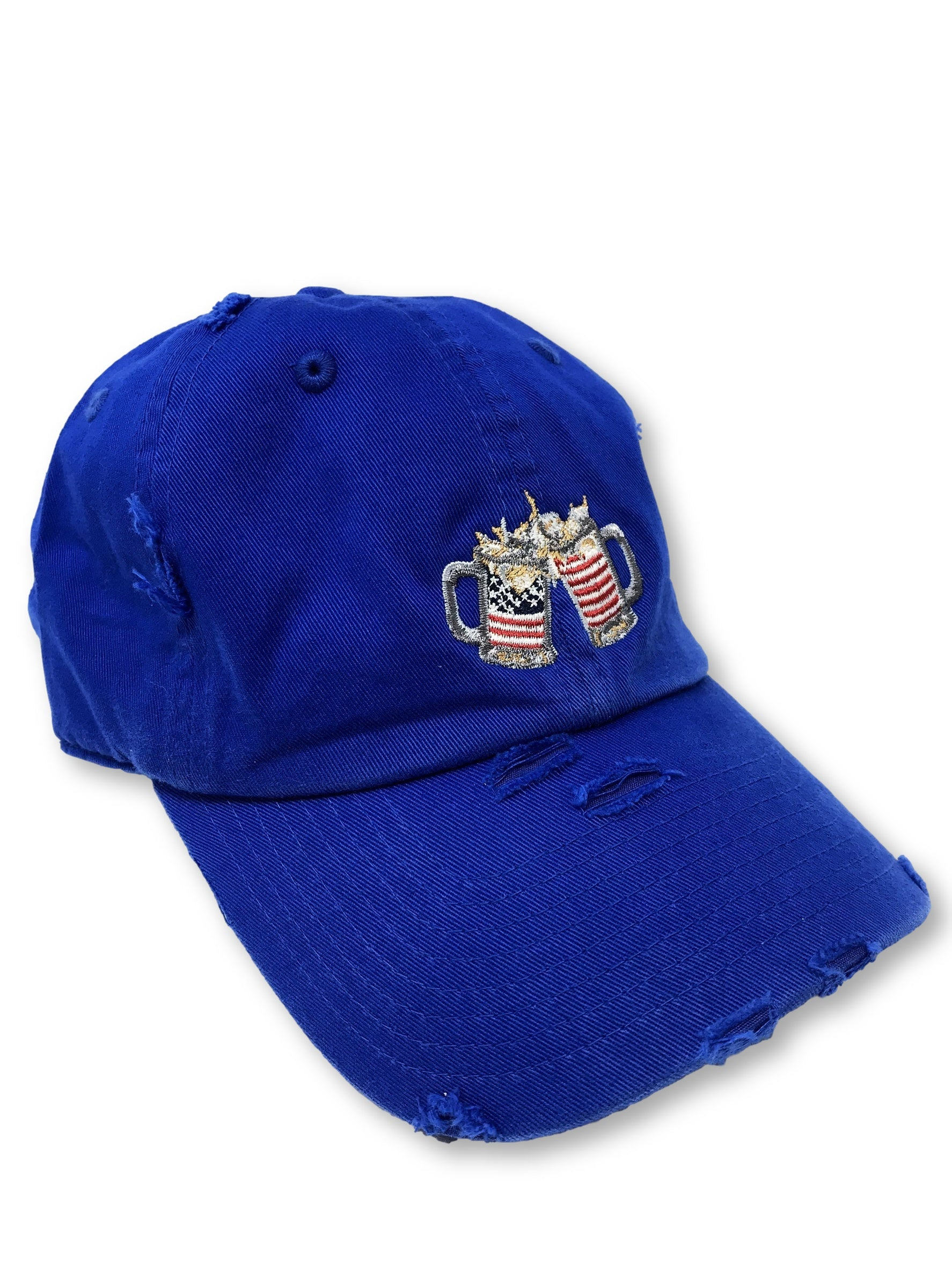 Royal Blue Cheers American Flag Hat