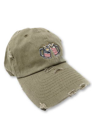 Khaki Cheers American Flag Hat