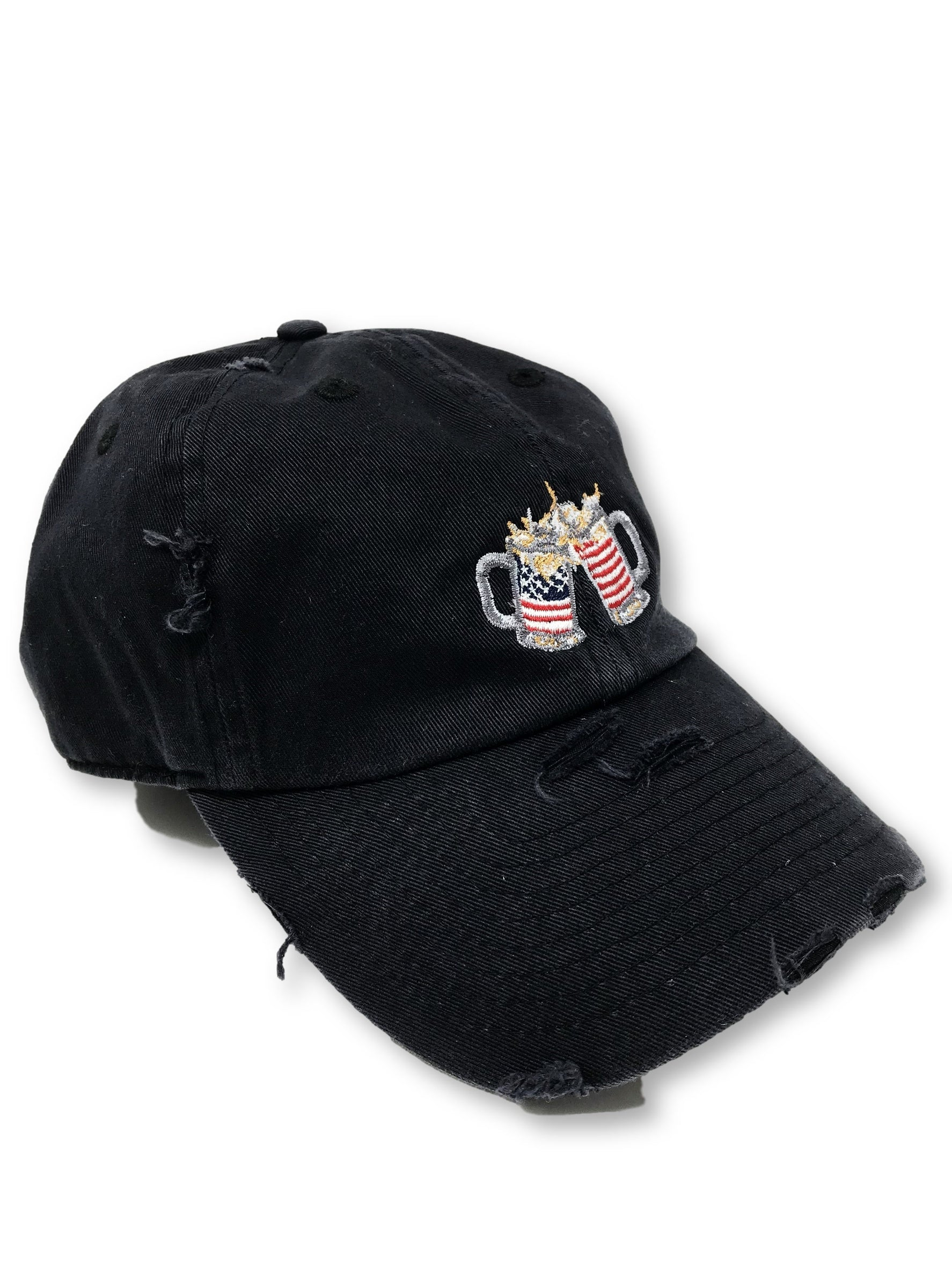 Black Cheers American Flag Hat